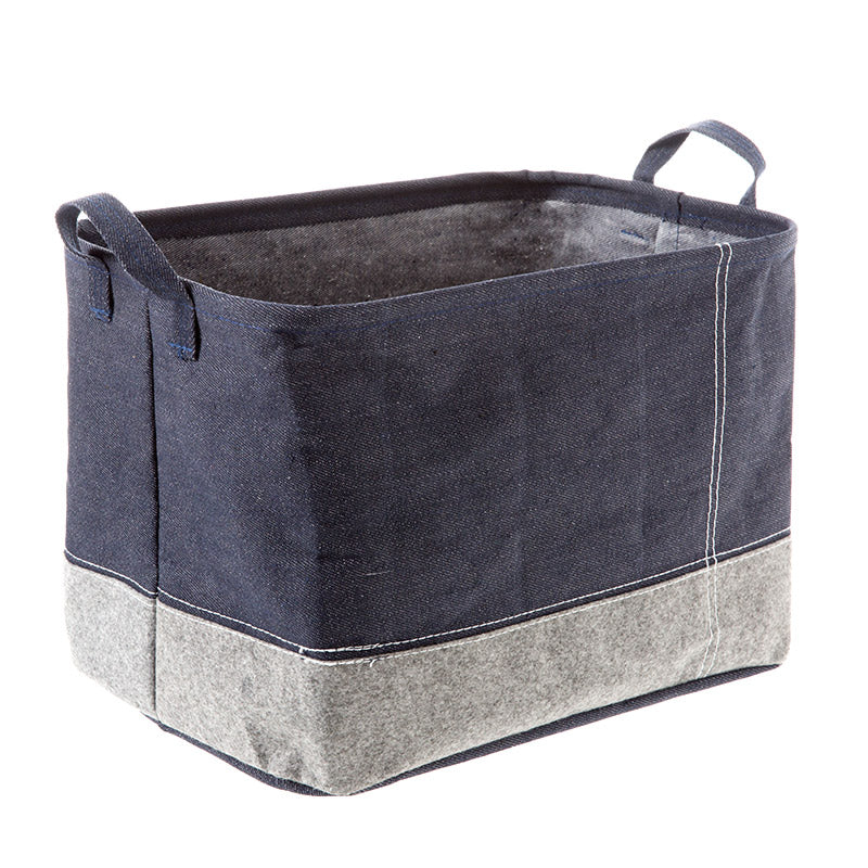 ... Navy Blue Storage Baskets ...