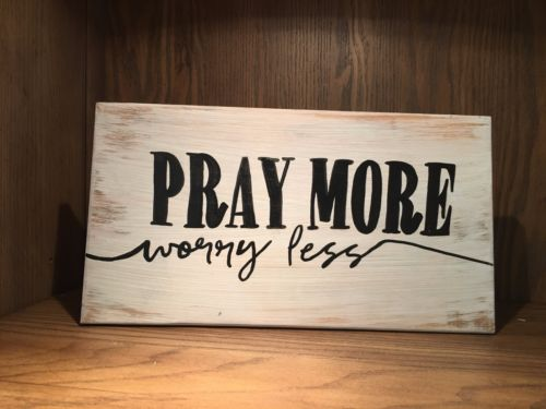 Hand Painted Distressed Wood Sign