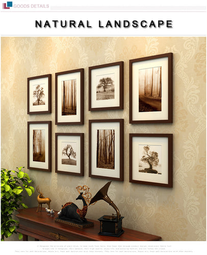 8 Piece Photo Frame Wall Decoration