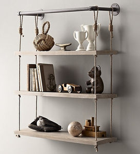 Rustic Iron Pipe Shelving
