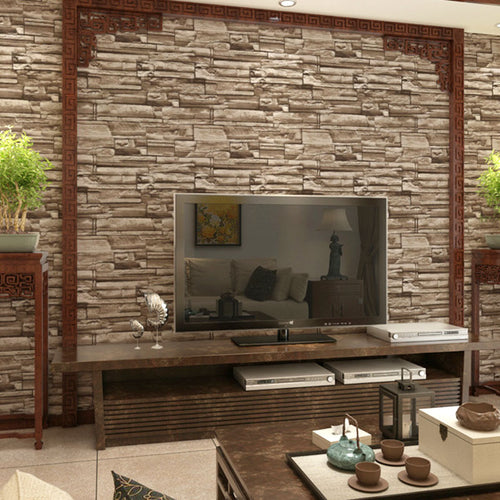 3D Stone Wall Effect Wall Decor
