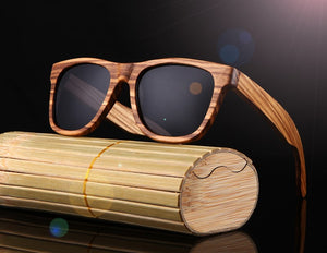 Wood Framed Men Sunglasses