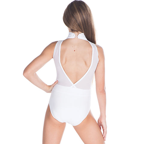 CosiG Open Back White Leotard Dance