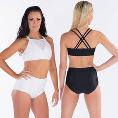 Ladies Brooklyn Crop Top-LADIES DANCE CROPS-CosiG Studiowear