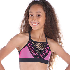 Girls Express Crop Top-Girls Dance Crops-CosiG Studiowear