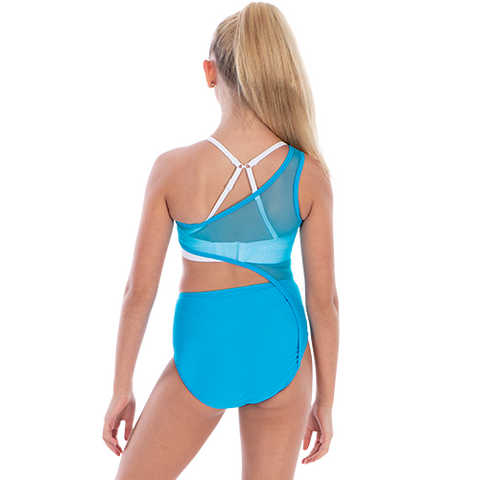 Girls Horizon Mesh Leotard