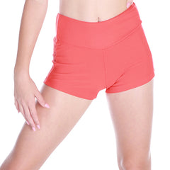 Flamin Orange Ribbed Hot pant