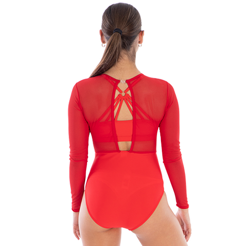 Ladies Epic Mesh Leotard