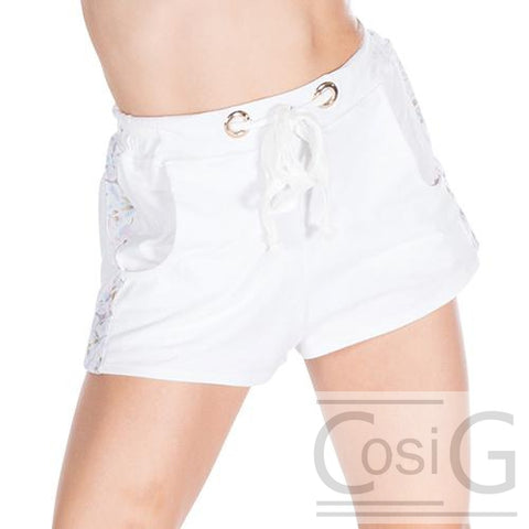 Shorts dance active white