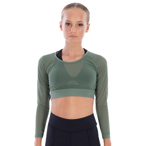 Ladies Marquee Mesh Crop