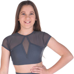 Girls Sentiment Crop Top-Girls Dance Crops-CosiG Studiowear