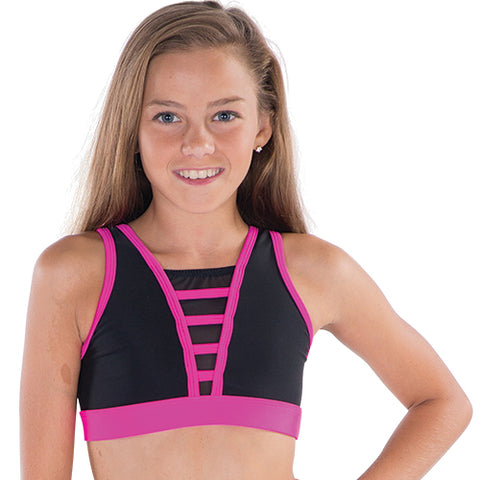 Girls Time Square Crop Top-Girls Dance Crops-CosiG Studiowear
