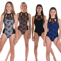 Ladies Rockefeller Lace Leotard
