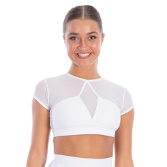 Girls Sentiment Crop Top