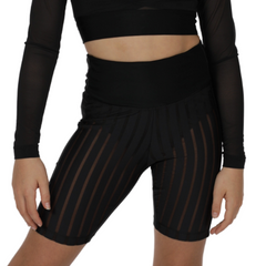 Girls Toxic Mid Thigh Mesh Hotpants