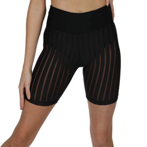 Ladies Toxic Mid Thigh Mesh Hotpants