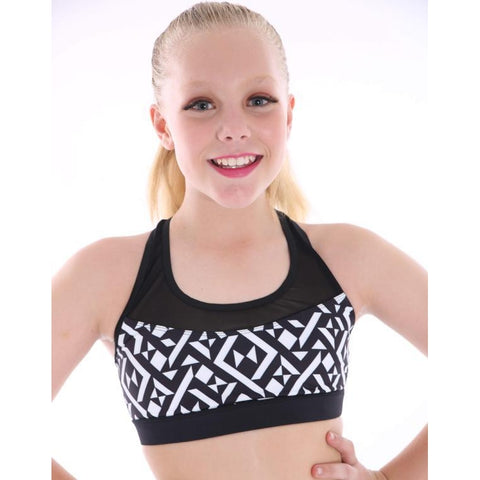 Girls Zealous Crop Top-Girls Dance Crops-CosiG Studiowear