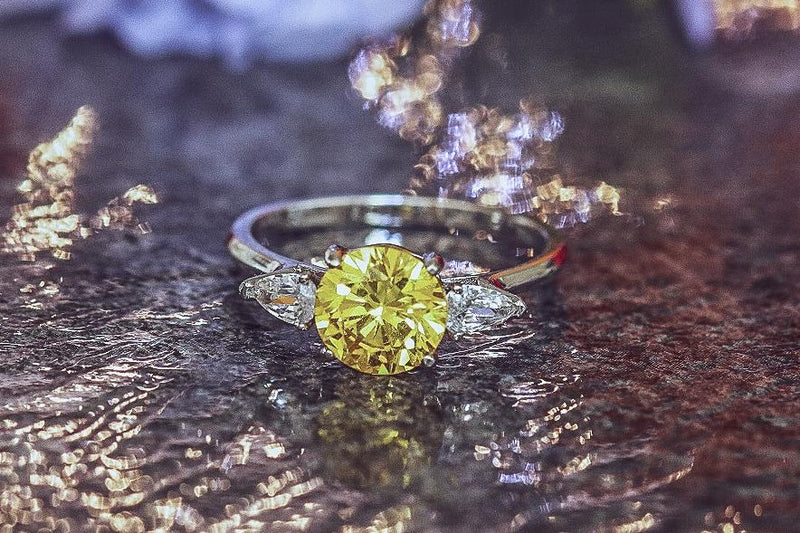 Yellow Dawn Citrine November Birthstone Ring