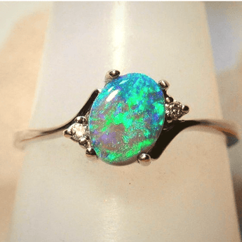 Green Flare Opal October Birthstone