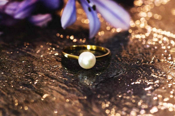 Chaste Beauty Pearl June Birthstone Ring