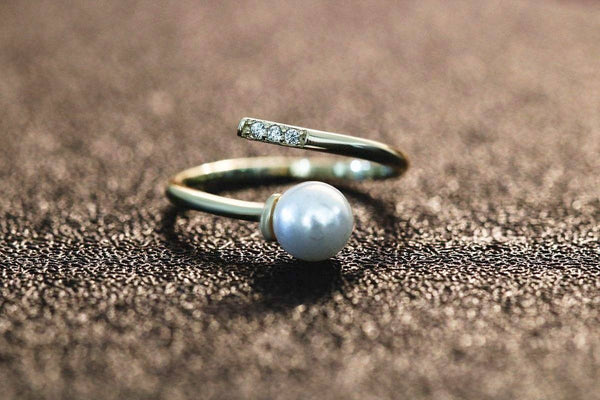 Oriental Treasure Pearl June Birthstone Ring