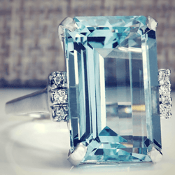 Grand Gem Aquamarine March Birthstone