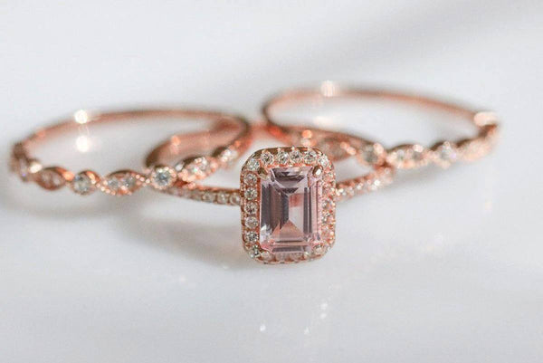 Brooding Sisters Morganite Ring