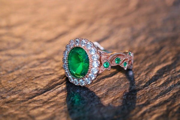 Vine Of The Druid Emerald May Birthstone Ring