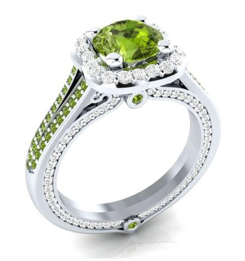 Leos Apple Peridot August Birthstone