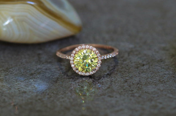 Ambrosial Offering Peridot August Birthstone Ring