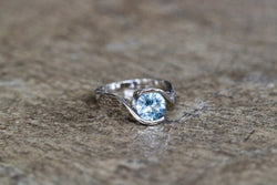 Heaven's Embrace Aquamarine March Birthstone Ring