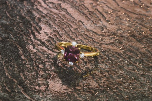 Southern Cross Rhodolite Garnet January Birthstone Ring