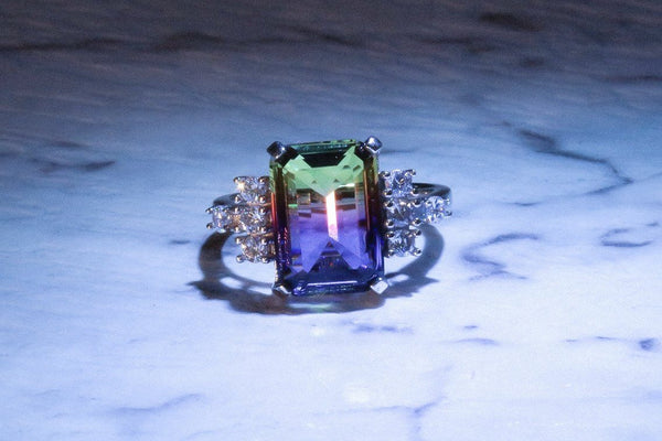Incandescent Totem Ametrine February Birthstone Ring