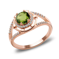 Golden Verdant Peridot August Birthstone