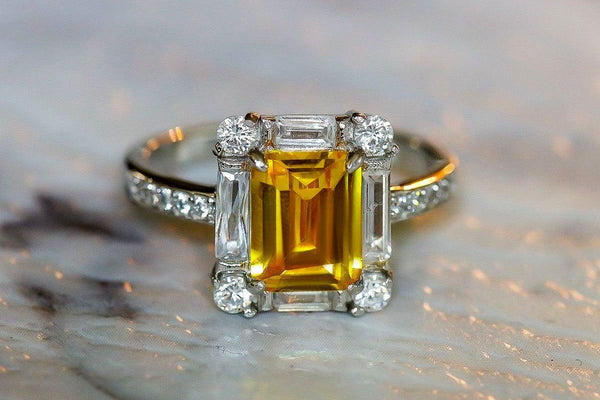 Incan Relic Citrine November Birthstone Ring