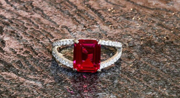 Classic Charm Ruby July Birthstone Ring