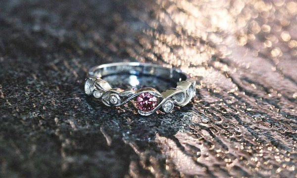 Hidden Rose Rhodolite Garnet January Birthstone Ring