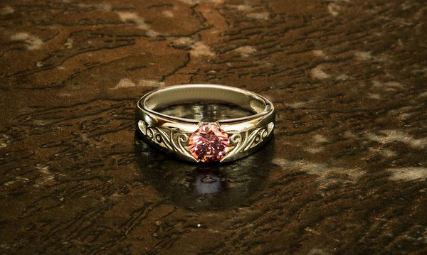 Silver's Hearth Rhodolite Garnet January Birthstone Ring