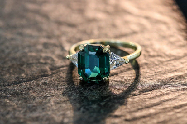 Viridian Charm Emerald May Birthstone Ring