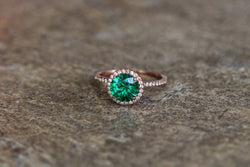Lady Luck's Favour Emerald May Birthstone Ring