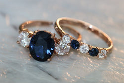 Canoness's Supernatural Trinket Sapphire And Diamond September Birthstone Ring Set