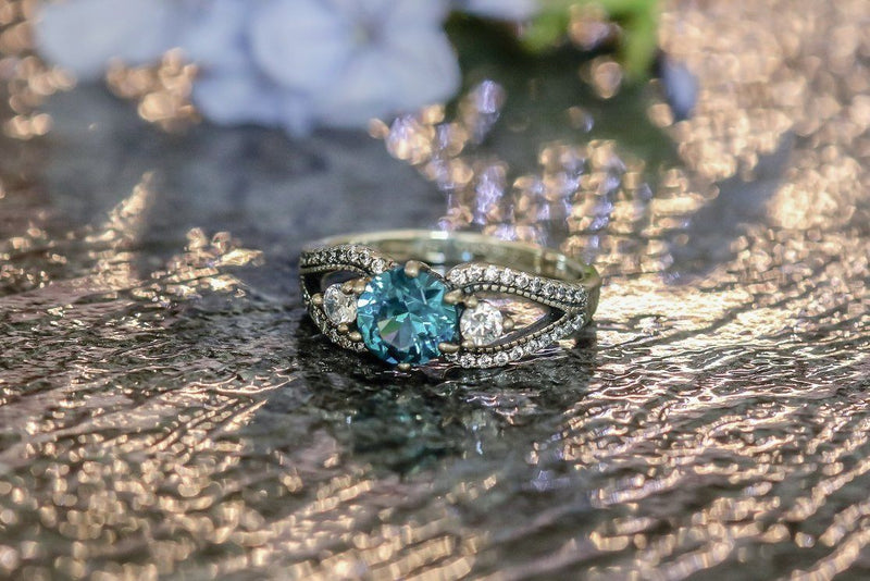 Geisha's Keepsake Zircon December Birthstone Ring