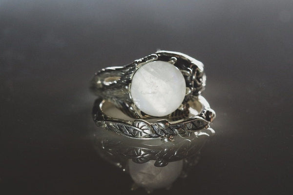 Wiccan Magik Moonstone June Birthstone Ring