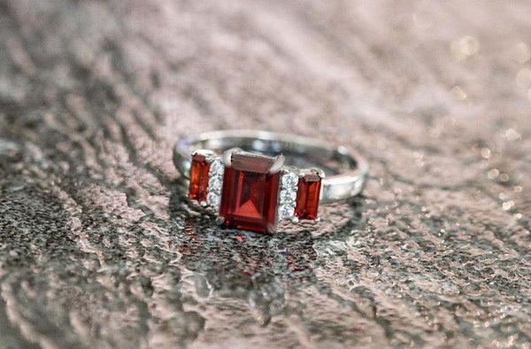 Cherry Liquor Garnet January Birthstone Ring