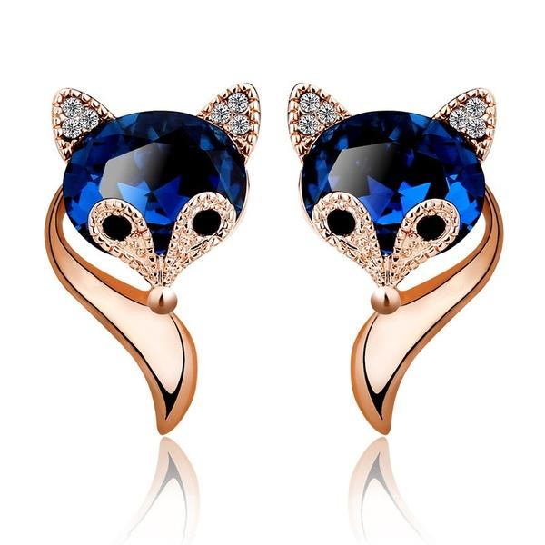 Feline Beauty Sapphire Earrings