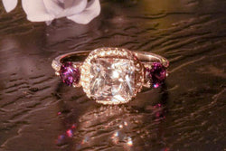 Violet Chalice Amethyst And Diamond February Birthstone Ring