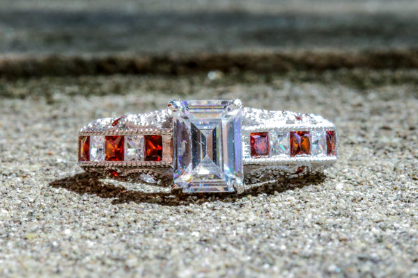 Royal Court Diamond And Ruby July Birthstone Ring