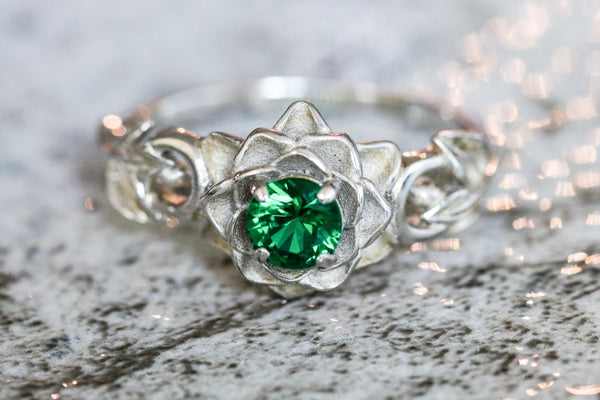 Pastoral Symphony Emerald May Birthstone Ring