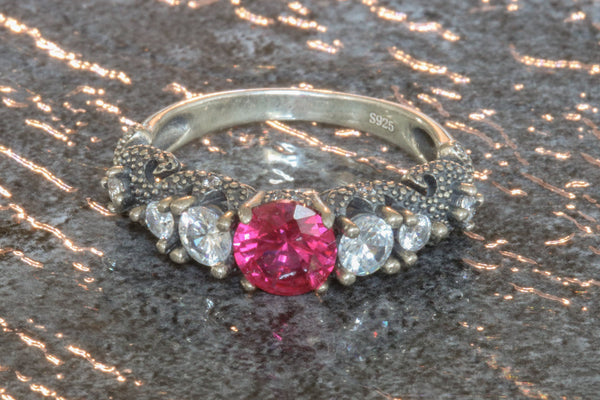 Phantasmagoria Ruby July Birthstone Ring