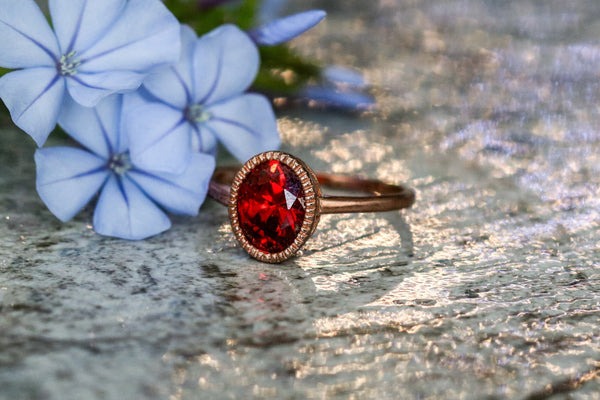 Memories of Scarlet Ruby July Birthstone Ring